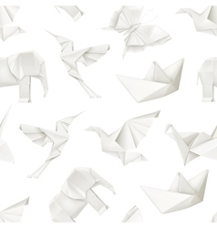 Origami seamless pattern vector