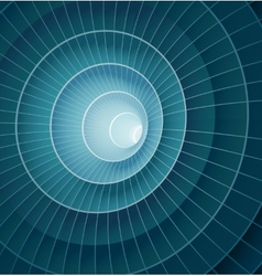 Abstract 3d blue spiral tunnel vector