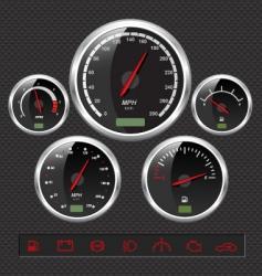 Sport car dials vector