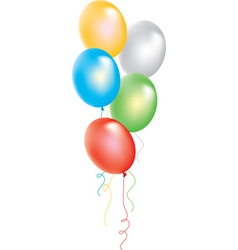 Bunch of colorful balloons vector
