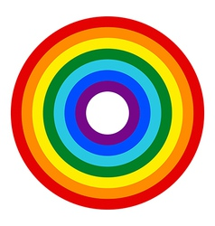 Rainbow button vector