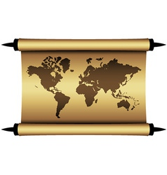 Parchment world map vector