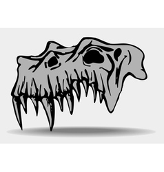 Skull of demon vector