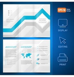 Brochure design template leaflet geometric vector