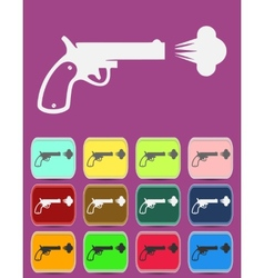 Shot from a revolver icon vector