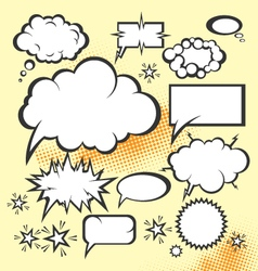 Cartoon comic actions vector