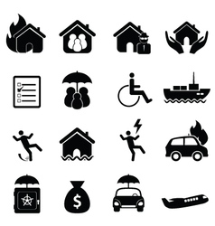 Insurance claim icons vector