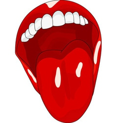 Womens open mouth with tongue lolling vector