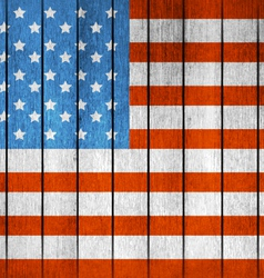 American wooden flag vector