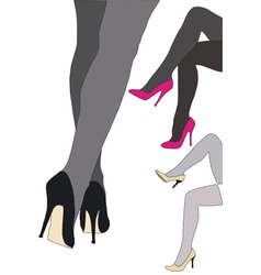 Beautiful high heels vector