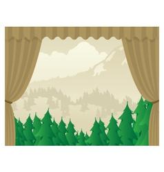 Wilderness scene stagejpg vector