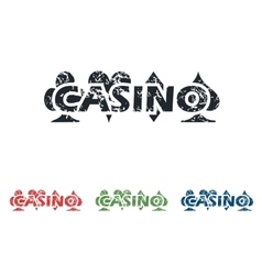 Casino grunge icon set vector