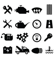 Mechanic workshop icons vector