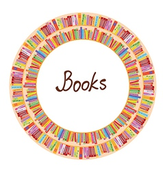 Book frame circle design vector