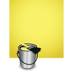 Yellow paint pot background vector
