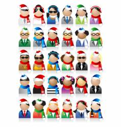 Business people icons christmas holiday vector