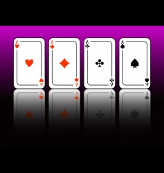 Aces cards vector