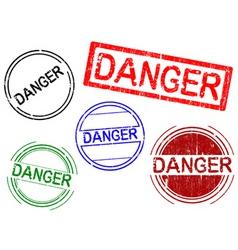 Office stamps danger vector