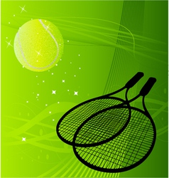 Tennis background vector