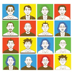 Male avatar kit vector