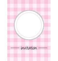Pink vintage card menu or invitation vector