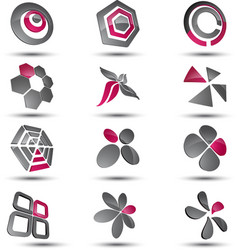 Abstract business icon collection set vector