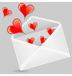 Valentine envelopes vector