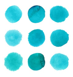 Set of watercolor dots vector