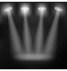 Light grey background with spotlights vector