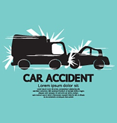 Truck and car in an accident vector