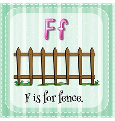 A letter f vector