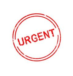 Office stamp urgent vector