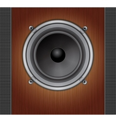 Loud speaker on a wood background vector