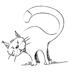Cat sketch style drawing vector
