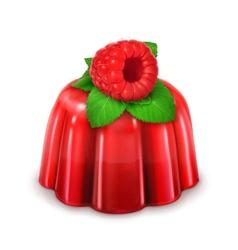 Raspberry jelly detailed vector