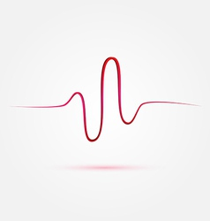 Heart beat cardiogram medical icon vector