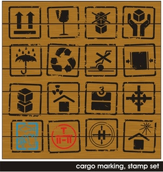 Cargo marking stamps vector