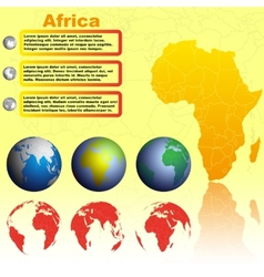 Africa map on yellow background vector