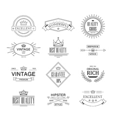 Label and vintage premium quality collection vector