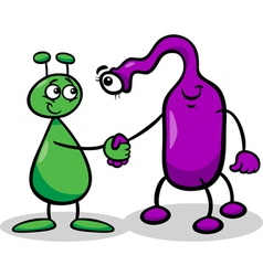 Aliens or martians cartoon vector