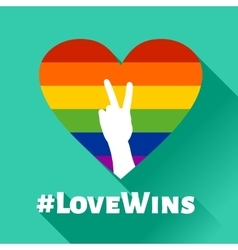 Love wins - lgbt heart vector