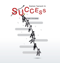 Business teamwork for success vector