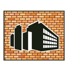 Industrial building vector