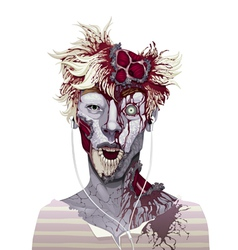 Zombie portrait vector