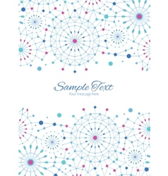 Blue abstract line art circles vertical vector