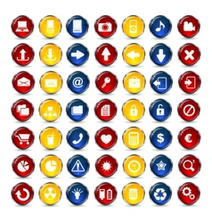 Internet and communication icons button vector