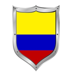 Colombia flag button vector