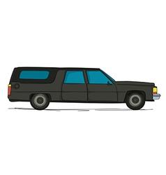 Cartoon hearse car vector