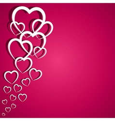 Pink heart greeting card vector