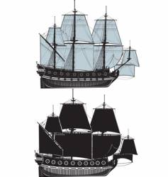The old sailing ship vector